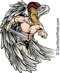 Warrior angel - An illustration of a warrior angel character...