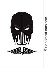 Warrior. Black Mask.Horror. Demon.