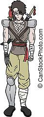 Warrior cartoon - Creative design of warrior cartoon
