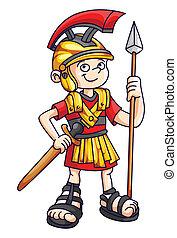 Warrior Funny Cartoon