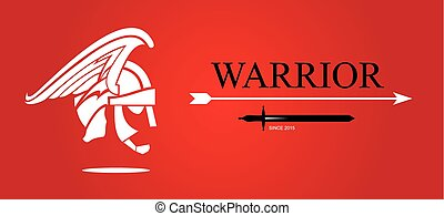 Warrior Head. Warrior profile.