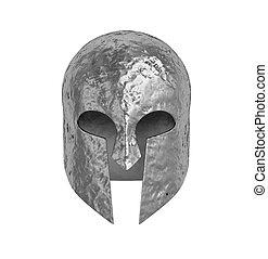 Warrior helmet isolated on white
