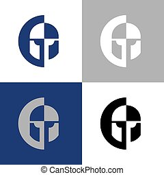 Warrior icon design, knight logo template elements,vector illustration