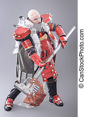 Warrior in the Armor with Axe