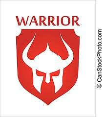 warrior logo over the shield
