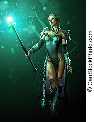 Warrior of Light - an illustration of a fantasy warrior...