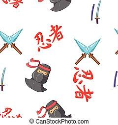 Warrior pattern, cartoon style
