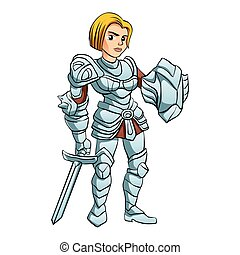 Warrior Princess With Battle sword and Shield