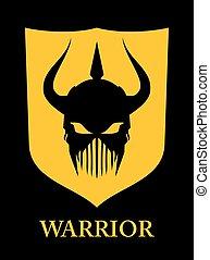 warrior, Warrior Head, horned warrior.