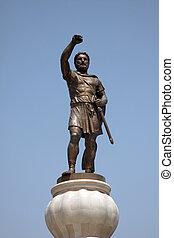 Philip II Macedon Sculpture in Skopje - Warrior with ...