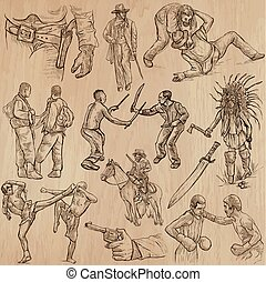 Warriors - an hand drawn vector pack.