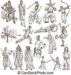 Warriors - Hand drawn pack - From series: WARRIORS and...