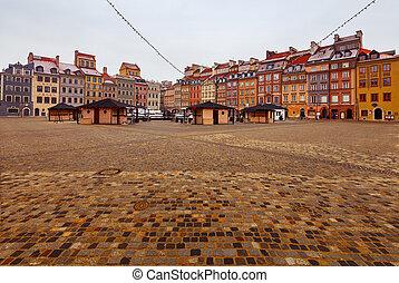 warsaw., 市場, square.