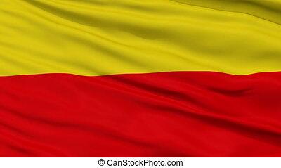 Warsaw City Close Up Waving Flag - Warsaw Capital City Flag...