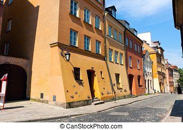 Warsaw City Old Town streets - Warsaw City downtown, XIX...
