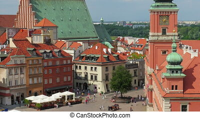 """""""warsaw old town square, poland, timelapse, zoom out, 4k"""""""