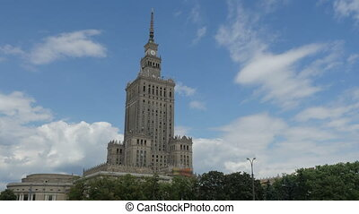 """""""warsaw, poland, culture science palace, stalin building, zoom in, 4k"""""""