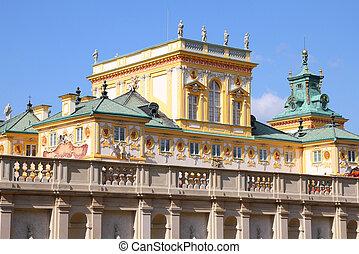 Wilanow - Warsaw, Poland. Famous Wilanow palace exterior. ...