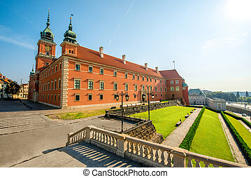 Warsaw Royal castle on the old town square in Poland