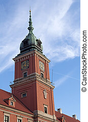 Warsaw Royal Castle. - Royal Castle tower in Warsaw Old...