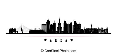 Warsaw skyline horizontal banner.