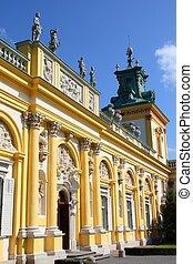 Warsaw - Wilanow - Warsaw, Poland. Famous Wilanow palace ...