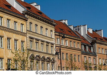 warschau, hofburg, quadrat, polen