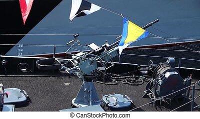 warship ship gun