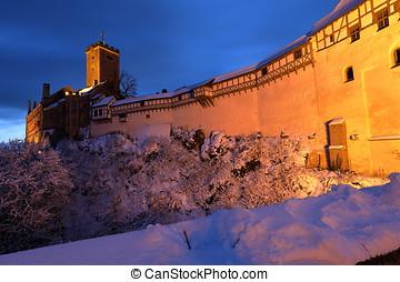 wartburg, eisenach, castillo, thuringia