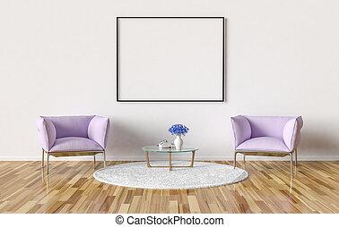 Möbel Leer konferenz bild möbel zimmer wand rahmen auf leer stockfoto