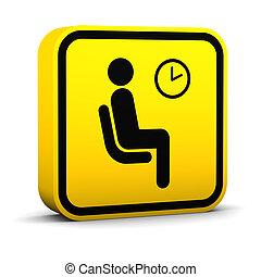wartezimmer, zeichen