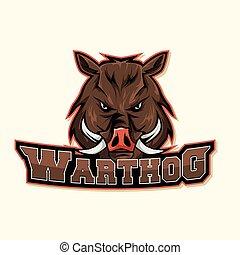 warthog logo colorful