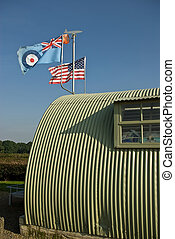 Wartime allies - The allied flags fly over a wartime...