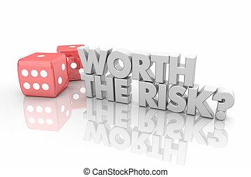 wartość, przedimek określony przed rzeczownikami, ryzyko, hazard, dwa, jarzyna pokrajana w kostkę, wziąć, traf, słówko, 3d, render, ilustracja