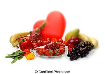 warzywa, śliczny, owoce