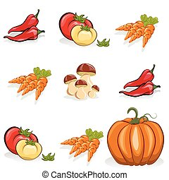 warzywa, komplet