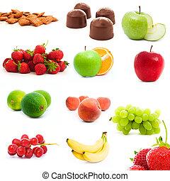 warzywa, komplet, owoce