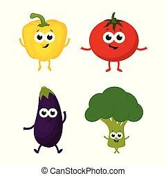 warzywa, komplet, rysunek