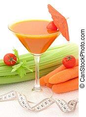 warzywa, smakowity, cocktail