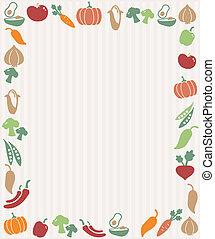 warzywa, ułożyć