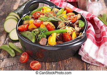 warzywa, upieczony