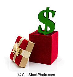 was, ausgeben, geschenk