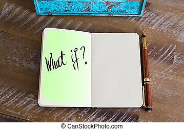 was, handgeschrieben, frage, ?, ob