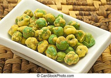 wasabi green peas