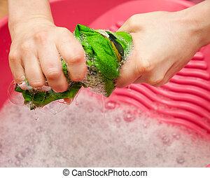 waschen, hand