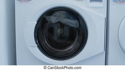 waschmaschine, waschen kleidung, 4k