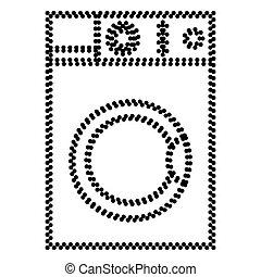 Maschine Wäsche Zeichen Schützen Wäsche Symbol Oder Maschine