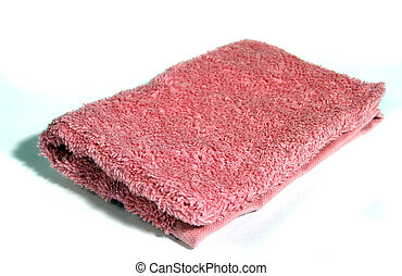 Wash Cloth - pink towel washcloth isolated on white