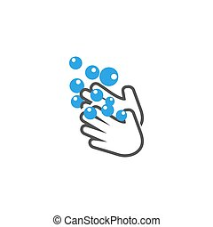 Wash hands icon design template vector isolated illustration