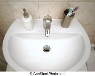 Wash sink in a bathroom
